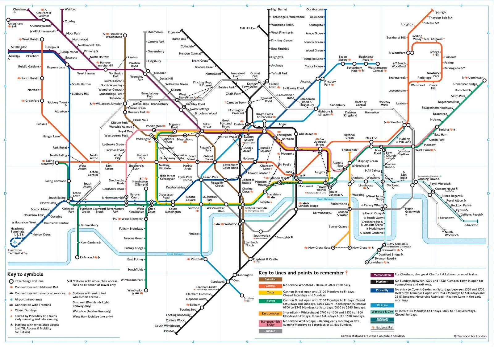 London Underground Subway Map.Wall It London Subway Map